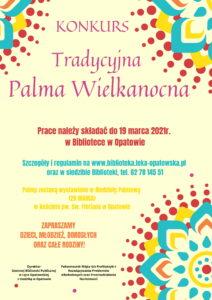 """Konkurs """"Tradycyjna Palma Wielkanocna""""."""
